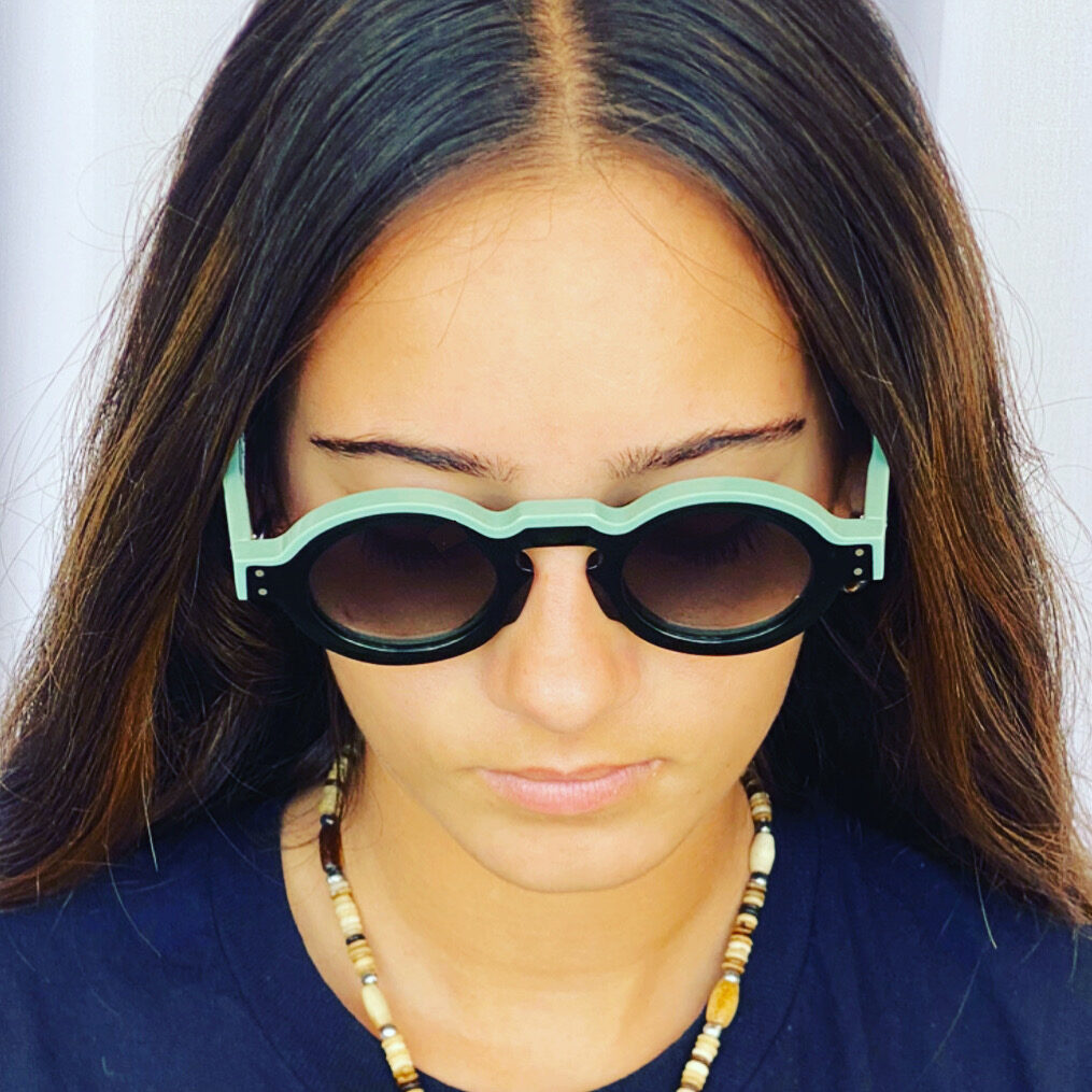 Jean Philippe Joly - Professeur Sunglasses Green / Aqua Green color